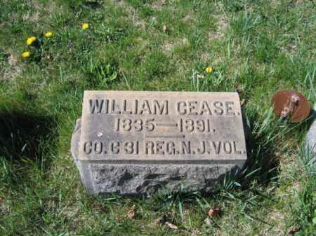CEASE, WILLIAM - Warren County, New Jersey   WILLIAM CEASE - New Jersey Gravestone Photos
