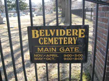 CEMETERY ENTRANCE SIGN, BELVIDERE - Warren County, New Jersey | BELVIDERE CEMETERY ENTRANCE SIGN - New Jersey Gravestone Photos