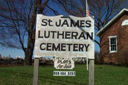 CEMETERY ENTRANCE SIGN, ST.JAMES LUTHERAN - Warren County, New Jersey | ST.JAMES LUTHERAN CEMETERY ENTRANCE SIGN - New Jersey Gravestone Photos