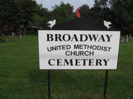 CEMETERY SIGN, BROADWAY UNITED METHODIST - Warren County, New Jersey | BROADWAY UNITED METHODIST CEMETERY SIGN - New Jersey Gravestone Photos