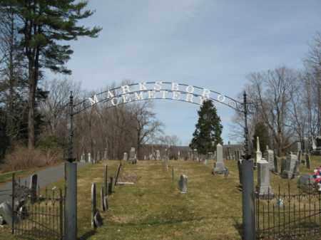 CEMETERY SIGN, MARKSBORO - Warren County, New Jersey | MARKSBORO CEMETERY SIGN - New Jersey Gravestone Photos