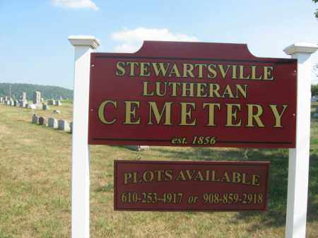 CEMETERY SIGN, STEWARTSVILLE LUTHERAN - Warren County, New Jersey | STEWARTSVILLE LUTHERAN CEMETERY SIGN - New Jersey Gravestone Photos