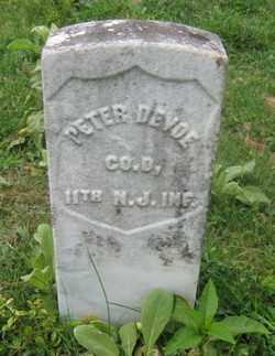 DEVOE, PETER - Warren County, New Jersey | PETER DEVOE - New Jersey Gravestone Photos