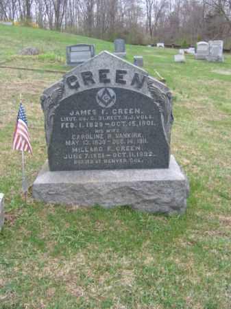 GREEN, JAMES F. - Warren County, New Jersey | JAMES F. GREEN - New Jersey Gravestone Photos