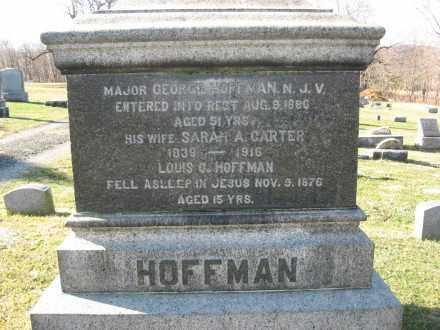 HOFFMAN, MAJOR GEORGE - Warren County, New Jersey   MAJOR GEORGE HOFFMAN - New Jersey Gravestone Photos