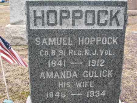 HOPPOCK, SAMUEL - Warren County, New Jersey | SAMUEL HOPPOCK - New Jersey Gravestone Photos