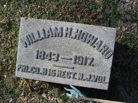 HOWARD, PVT.WILLIAM H. - Warren County, New Jersey | PVT.WILLIAM H. HOWARD - New Jersey Gravestone Photos