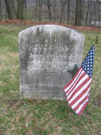 HUNT, PETER - Warren County, New Jersey   PETER HUNT - New Jersey Gravestone Photos