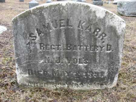 KARR, SAMUEL - Warren County, New Jersey   SAMUEL KARR - New Jersey Gravestone Photos