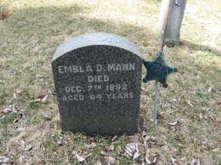 MANN, EMBLA D. - Warren County, New Jersey   EMBLA D. MANN - New Jersey Gravestone Photos