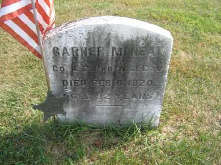 MCNEAL (MCNEIL), GARNER - Warren County, New Jersey   GARNER MCNEAL (MCNEIL) - New Jersey Gravestone Photos