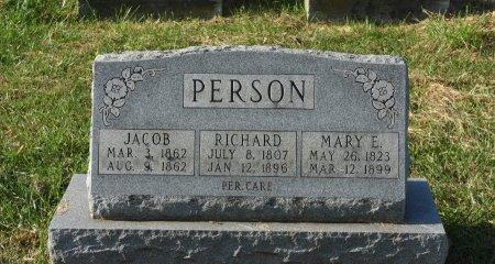 PERSON, RICHARD - Warren County, New Jersey   RICHARD PERSON - New Jersey Gravestone Photos