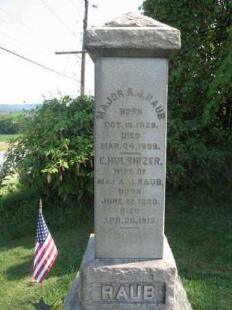 RAUB, MAJOR ANDREW J. - Warren County, New Jersey | MAJOR ANDREW J. RAUB - New Jersey Gravestone Photos
