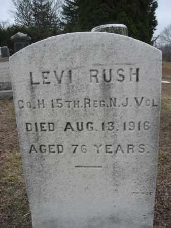 RUSH, LEVI - Warren County, New Jersey | LEVI RUSH - New Jersey Gravestone Photos