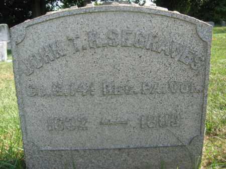 SEGRAVES, JOHN T.R. - Warren County, New Jersey   JOHN T.R. SEGRAVES - New Jersey Gravestone Photos