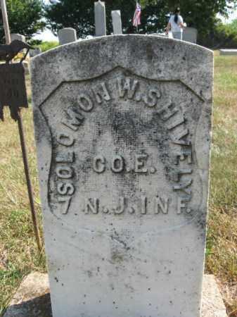 SHIVELY, SOLOMON W. - Warren County, New Jersey | SOLOMON W. SHIVELY - New Jersey Gravestone Photos