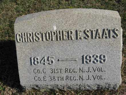 STAATS, CHRISTOPHER F. - Warren County, New Jersey | CHRISTOPHER F. STAATS - New Jersey Gravestone Photos