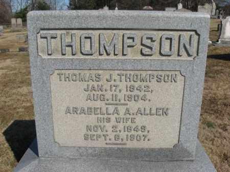 THOMPSON, THOMAS J. - Warren County, New Jersey | THOMAS J. THOMPSON - New Jersey Gravestone Photos