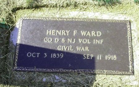 WARD, HENRY F. - Warren County, New Jersey | HENRY F. WARD - New Jersey Gravestone Photos