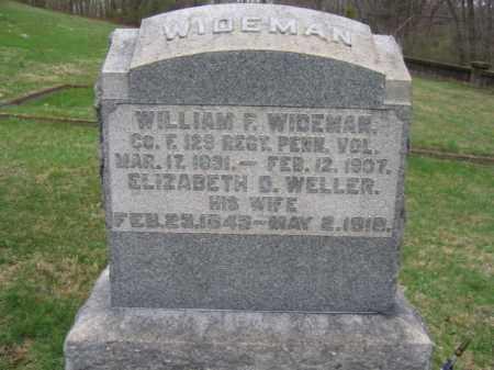 WIDEMAN, WILLIAM F. - Warren County, New Jersey | WILLIAM F. WIDEMAN - New Jersey Gravestone Photos