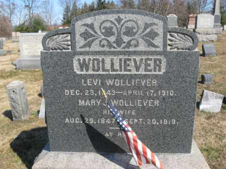 WOLLIEVER (WOLEVER), LEVI - Warren County, New Jersey | LEVI WOLLIEVER (WOLEVER) - New Jersey Gravestone Photos