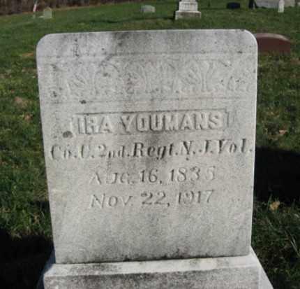 YOUMANS (YOUMAN), IRA - Warren County, New Jersey   IRA YOUMANS (YOUMAN) - New Jersey Gravestone Photos