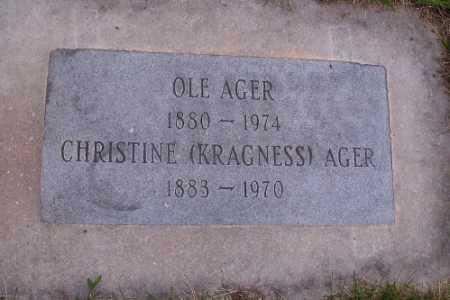 KRAGNESS AGER, AGER - Barnes County, North Dakota | AGER KRAGNESS AGER - North Dakota Gravestone Photos