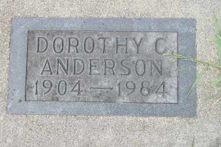 ANDERSON, DOROTHY C. - Barnes County, North Dakota   DOROTHY C. ANDERSON - North Dakota Gravestone Photos
