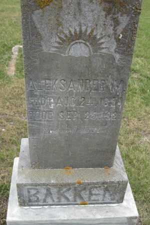 BAKKEN, ALEKSANER - Barnes County, North Dakota | ALEKSANER BAKKEN - North Dakota Gravestone Photos