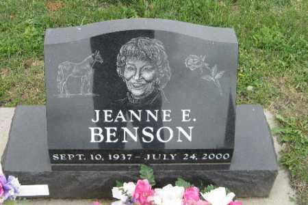 BENSON, JEANNE E. - Barnes County, North Dakota   JEANNE E. BENSON - North Dakota Gravestone Photos