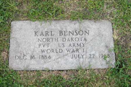 BENSON, KARL - Barnes County, North Dakota | KARL BENSON - North Dakota Gravestone Photos