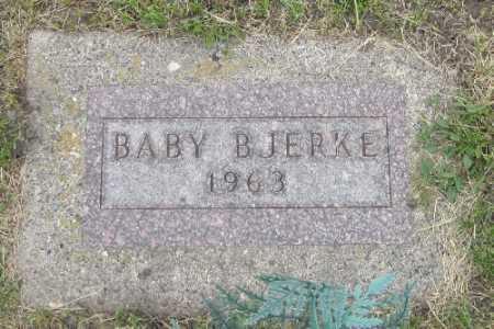 BJERKE, BABY - Barnes County, North Dakota | BABY BJERKE - North Dakota Gravestone Photos