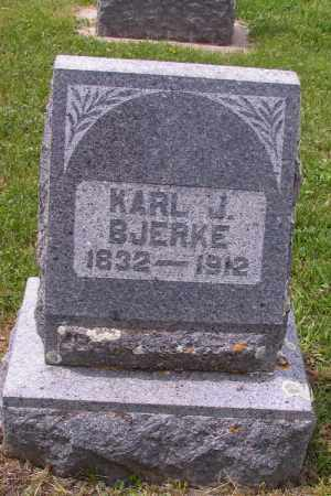 BJERKE, KARL J. - Barnes County, North Dakota | KARL J. BJERKE - North Dakota Gravestone Photos