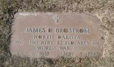 BROSTROM, JAMES D. - Barnes County, North Dakota | JAMES D. BROSTROM - North Dakota Gravestone Photos