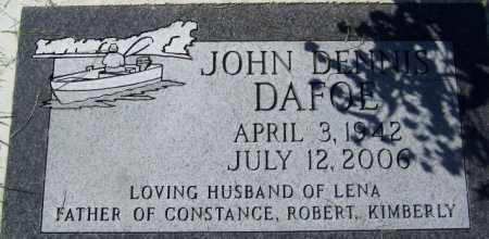 DAFOE, JOHN DENNIS - Barnes County, North Dakota   JOHN DENNIS DAFOE - North Dakota Gravestone Photos