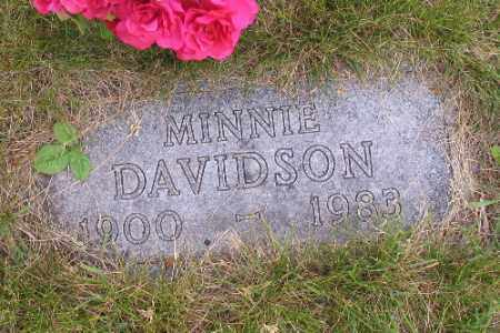 DAVIDSON, MINNIE - Barnes County, North Dakota   MINNIE DAVIDSON - North Dakota Gravestone Photos