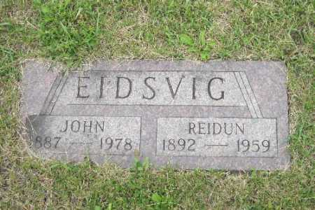 EIDSVIG, REIDUN - Barnes County, North Dakota | REIDUN EIDSVIG - North Dakota Gravestone Photos