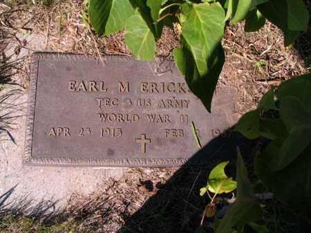 ERICKSON, EARL M. - Barnes County, North Dakota   EARL M. ERICKSON - North Dakota Gravestone Photos