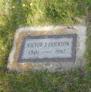 ERICKSON, VICTOR J - Barnes County, North Dakota   VICTOR J ERICKSON - North Dakota Gravestone Photos
