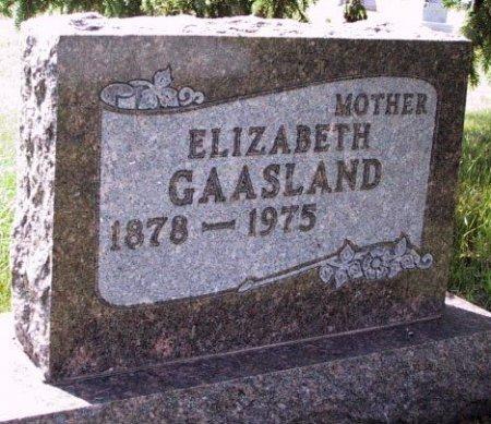 GAASLAND, ELIZABETH JOHANNA - Barnes County, North Dakota | ELIZABETH JOHANNA GAASLAND - North Dakota Gravestone Photos