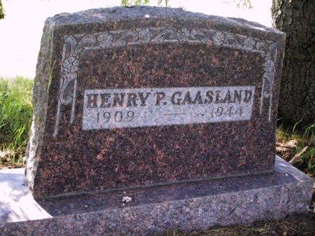 GAASLAND, HENRY P. - Barnes County, North Dakota | HENRY P. GAASLAND - North Dakota Gravestone Photos