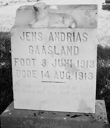 GAASLAND, JENS ANDRIAS - Barnes County, North Dakota | JENS ANDRIAS GAASLAND - North Dakota Gravestone Photos