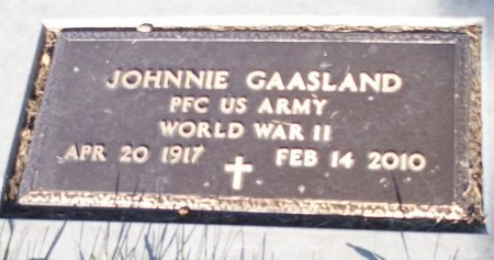 GAASLAND, JOHNNIE - Barnes County, North Dakota   JOHNNIE GAASLAND - North Dakota Gravestone Photos