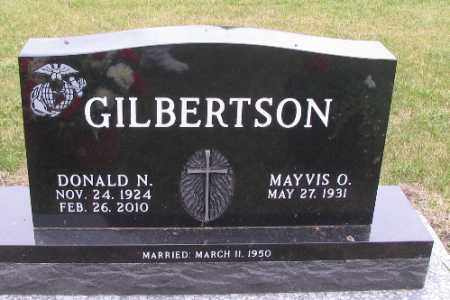 GILBERTSON, DONALD N. - Barnes County, North Dakota   DONALD N. GILBERTSON - North Dakota Gravestone Photos