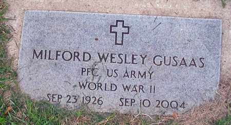 GUSAAS, MILFORD WESLEY - Barnes County, North Dakota | MILFORD WESLEY GUSAAS - North Dakota Gravestone Photos