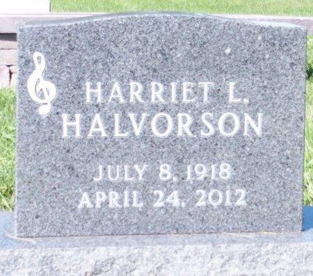 HALVORSON, HARRIET L. - Barnes County, North Dakota   HARRIET L. HALVORSON - North Dakota Gravestone Photos