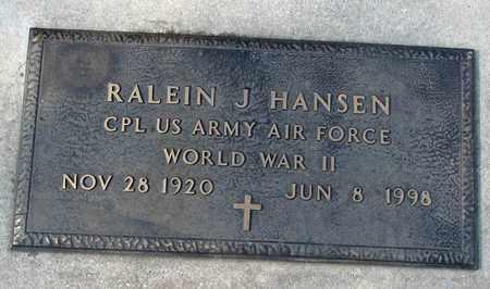 HANSEN, RALEIN J. - Barnes County, North Dakota | RALEIN J. HANSEN - North Dakota Gravestone Photos