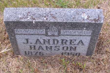 HANSON, J. ANDREA - Barnes County, North Dakota   J. ANDREA HANSON - North Dakota Gravestone Photos