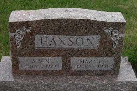HANSON, ALVIN - Barnes County, North Dakota | ALVIN HANSON - North Dakota Gravestone Photos