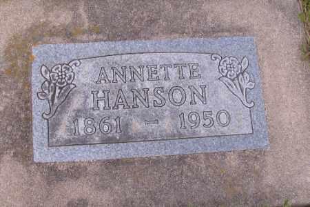 HANSON, ANNETTE - Barnes County, North Dakota | ANNETTE HANSON - North Dakota Gravestone Photos